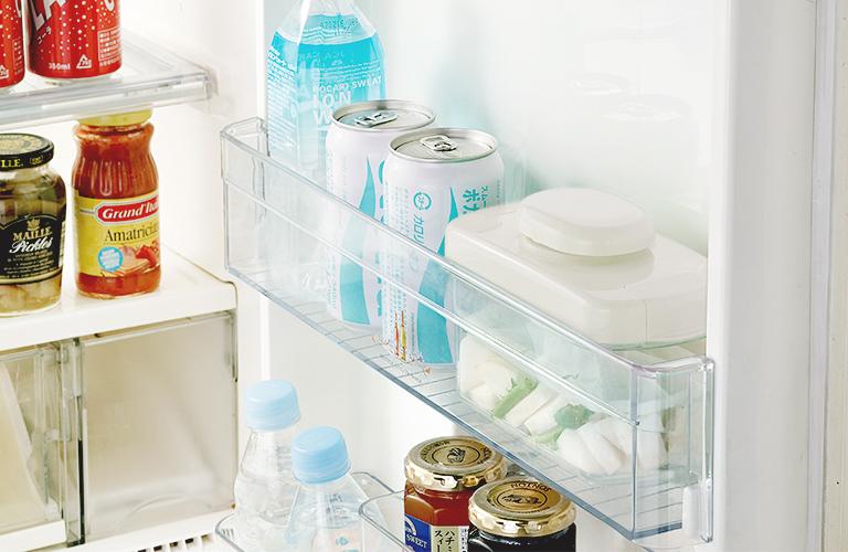 冷蔵庫のドアポケットに収まる イメージ